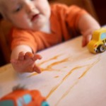 Finger Painting with Baby Food While Creating Memories