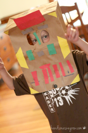 Make paper bag masks!