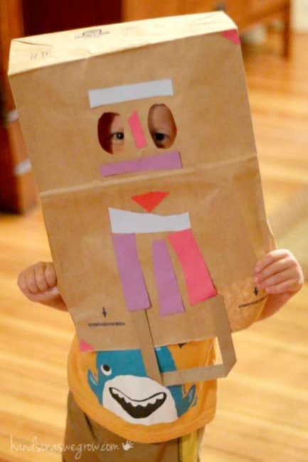Make a brown paper bag mask