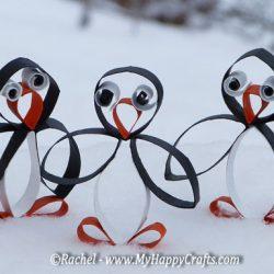 toilet tube penguin craft for kids