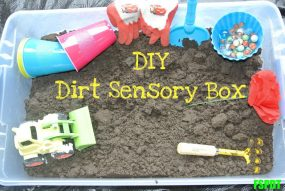 Dirt or Mud Sensory Box