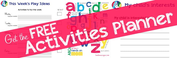 FREE Printable Kids Activities Planner!