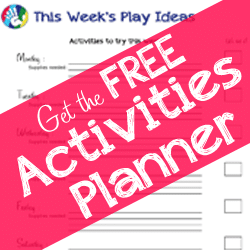 Free Printable Kids Activities Planner