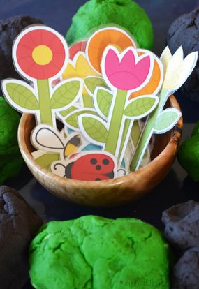 Printable Play Dough Garden from Picklebums