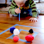 Pom Pom Target Practice for Preschoolers & Toddlers
