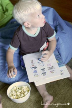 A Seek & Find Movie Night Activity For Kids