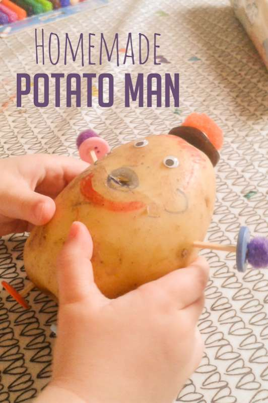 Make Your Very Own Homemade Potato 173 Man Hands On As We Grow
