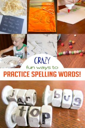 Homework Time! 21 Obvious & Crazy Ways to Practice Spelling Words