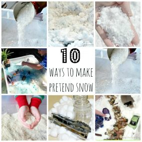 10 ways to make pretend snow from Blog Me Mom