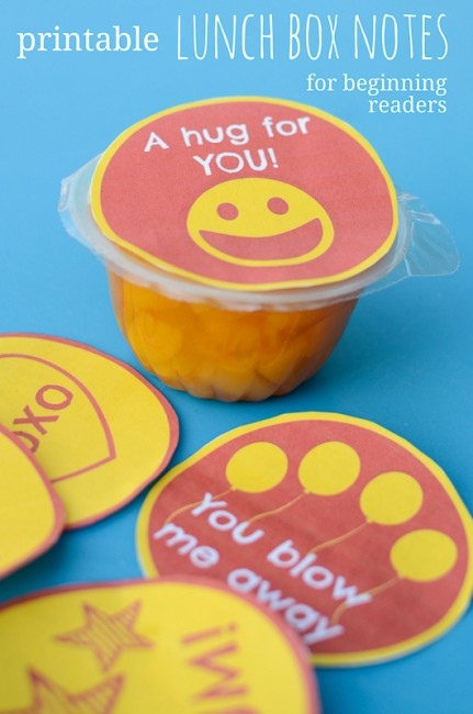 Print out these cute, easy reading Lunch Box Notes for beginner readers - they'll think I'm supermom!