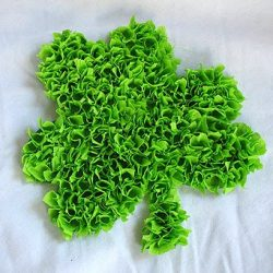 3D tissue paper shamrock - 1 of the 20 shamrock crafts for kids to make
