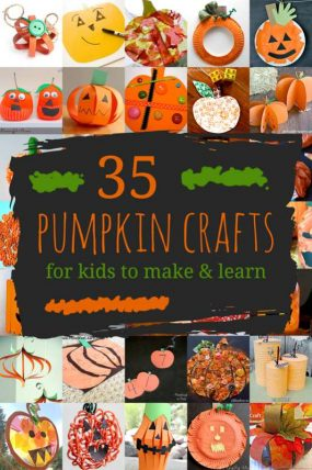 Pumpkin Crafts for Kids! 35 Pumpkins to Make & Learn
