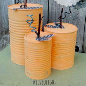 Tin Can Junky Pumpkins from Twelve 'O Eight