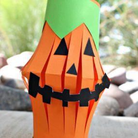 Toilet Paper Tube Pumpkin Lantern from Crafty Morning