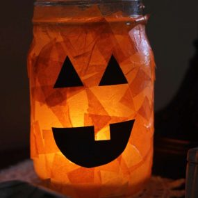 Jack-O'-Lantern Luminary from Love & Marriage Blog
