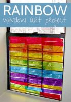 Such gorgeous rainbow window art for kids to make