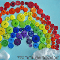 Button Rainbow Craft