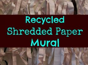 Recycled Shredded Paper Mural from Kz and Me