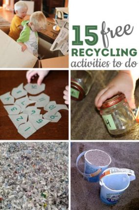 15 recycling activities to do with the kids - that are completely free!