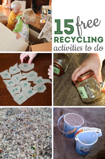 15 Recycling Activities For Kids That Are Completely Free