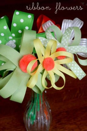 Ribbon Flower Bouquet Gift Made by Kids for JCPenney Cares