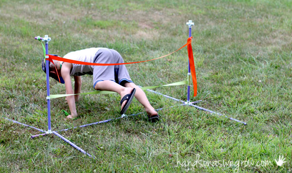 how to build an obstacle course for kids