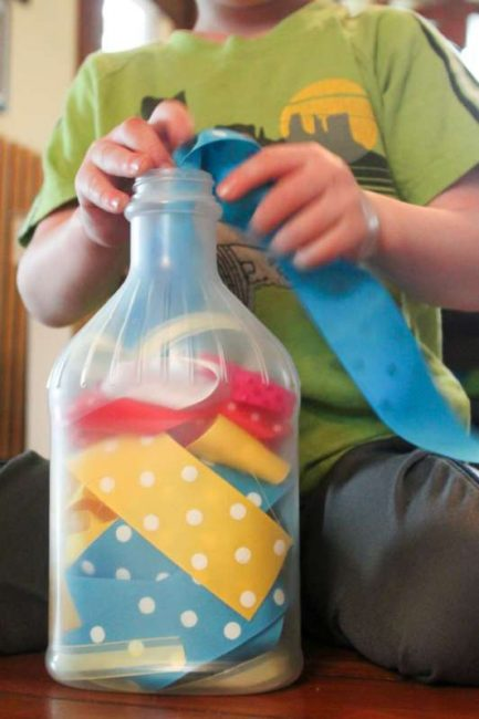 Ribbon Fine Motor Play For Toddlers Hands On As We Grow