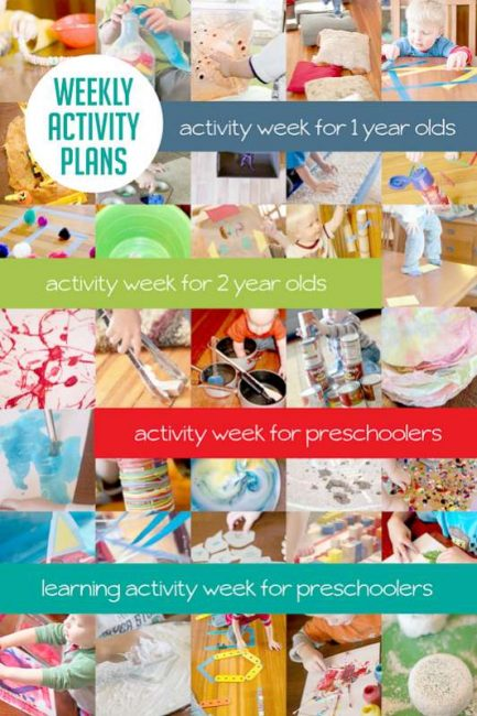 Sample Weekly Activity Plans Hands On As We Grow
