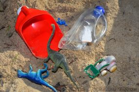 Plastic Bottle Scoops for Sand and Water Play