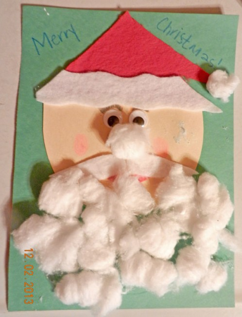 A santa craft as part of the book and activities advent calendar