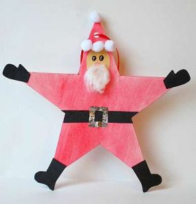 Santa Star Christmas Ornament Craft for Kids from Buggy and Buddy