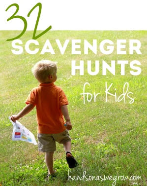 32 scavenger hunt ideas for kids