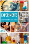 A week of science experiments for the kids to do