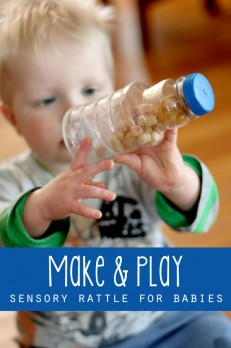 A quick make it and play with it sensory rattle for babies