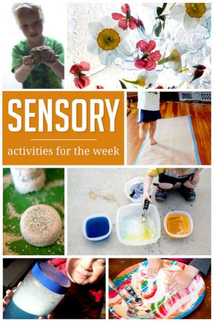 A week of simple sensory motor activities to do with the kids!