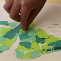 shamrock paper mosaic - 1 of the 20 shamrock crafts for kids to make