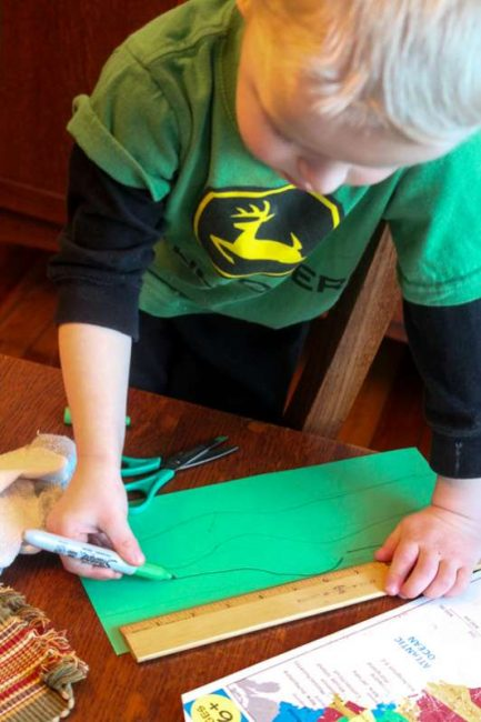Shamrock craft for St. Patrick's Day using multiple hearts