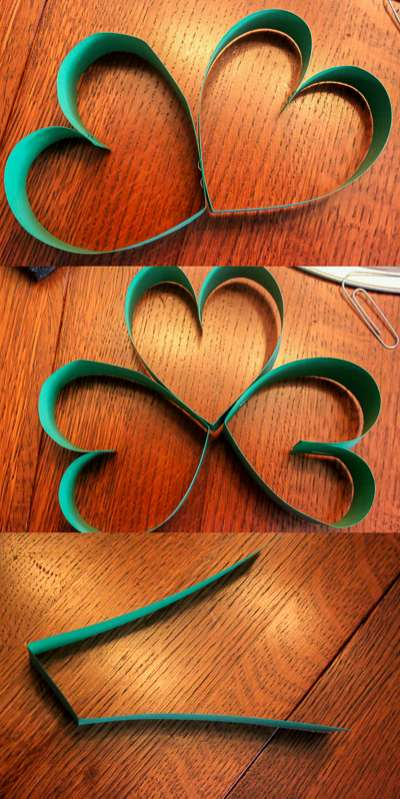 How to make a heart shamrock craft for St Patrick's Day