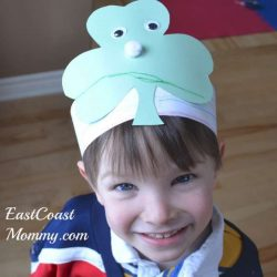 shamrock hat craft for kids