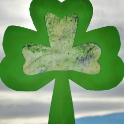 stained glass shamrock - 1 of the 20 shamrock crafts for kids to make