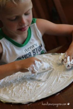 Shaving cream activity with fun learning opportunities
