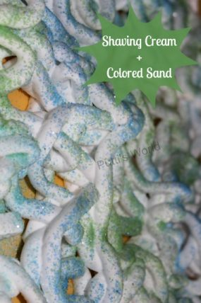Shaving Cream and Colored Sand