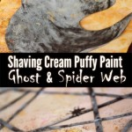 Shaving Cream Puffy Paint Ghost & Spider Web