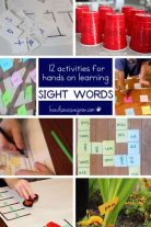 12 sight word activities - hands on learning