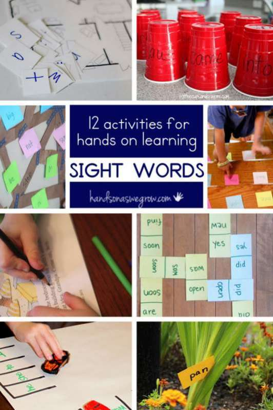 hands on learning activities for preschoolers 12 on sight word activities on as we grow 188