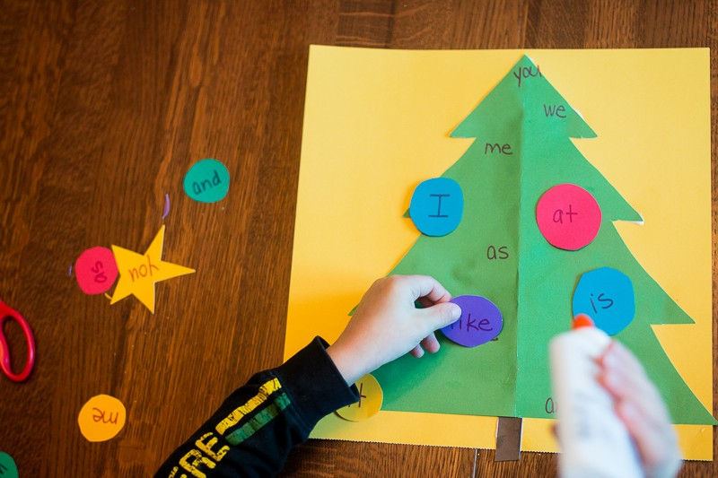 decorate the christmas tree with sight words hands on as we grow