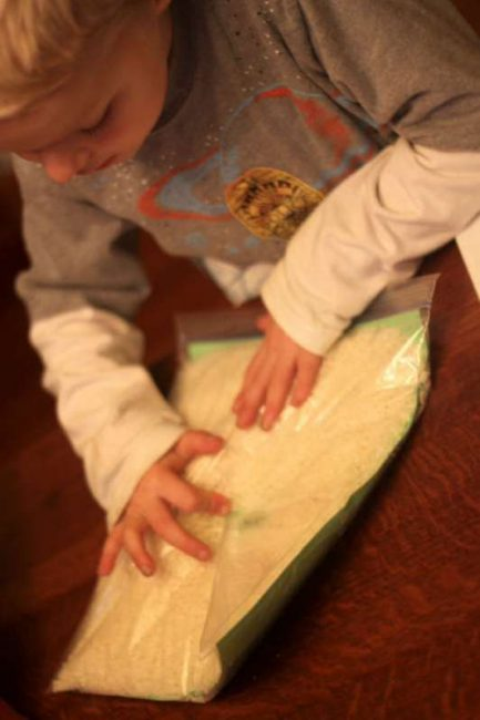 Search for sight words, letters, or anything, in an I Spy Sensory Bag