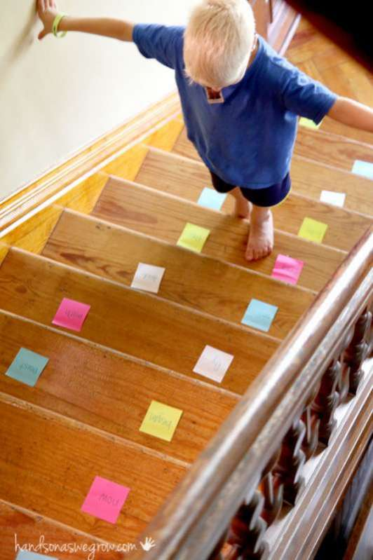 Sight Word Practice On The Stairs Hands On As We Grow