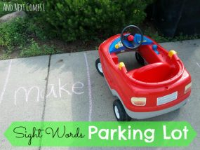 Sight Words Parking Lot from And Next Comes L