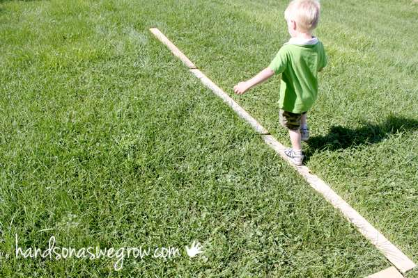 A simple balance beam for toddlers